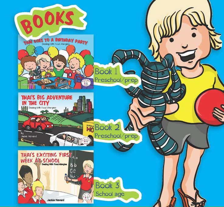 Educational books for schools. Teaching all students to be Food Allergy Smart. School packs available, including our visual posters and EpiPen bags.
