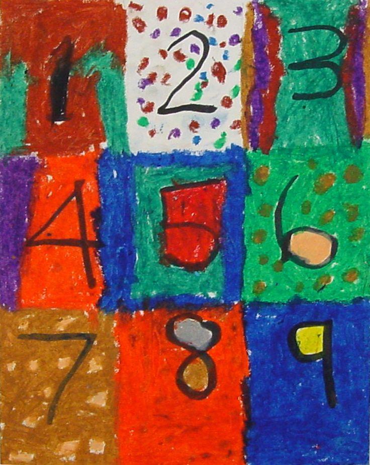 NumbersNumbers Pattern, 1St Grade Math, 2Nd Grades, For Kids, Math Teachers, Artists Jasper, 1St Grades, Jasper Johns, Art Projects