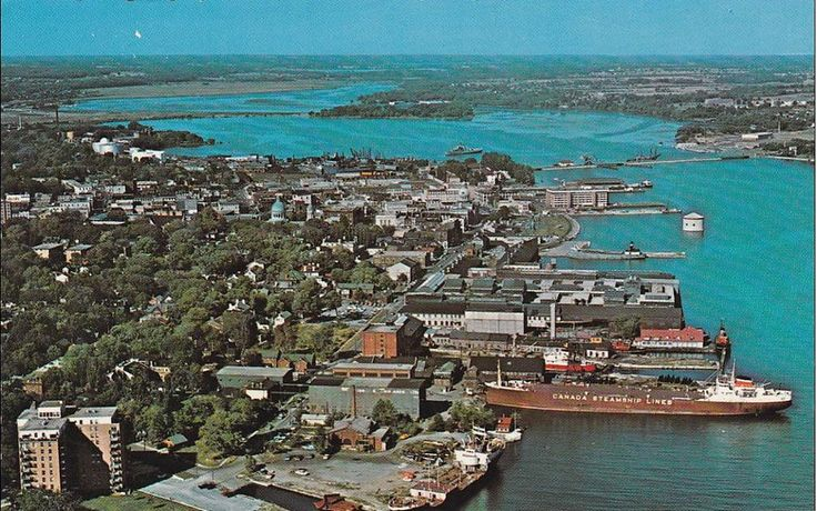 Kingston, ON waterfront, 1968.