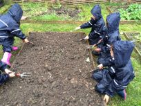 Reception were not perturbed by the recent spring showers (torrential rain!)