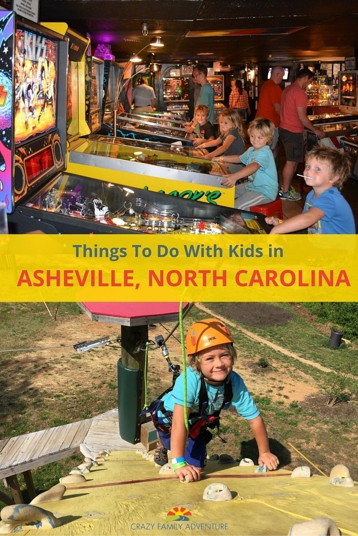 There are so many cool things to do with kids in Asheville. Have you ever been to a pinball museum?!  via @Crazy Family Adventure