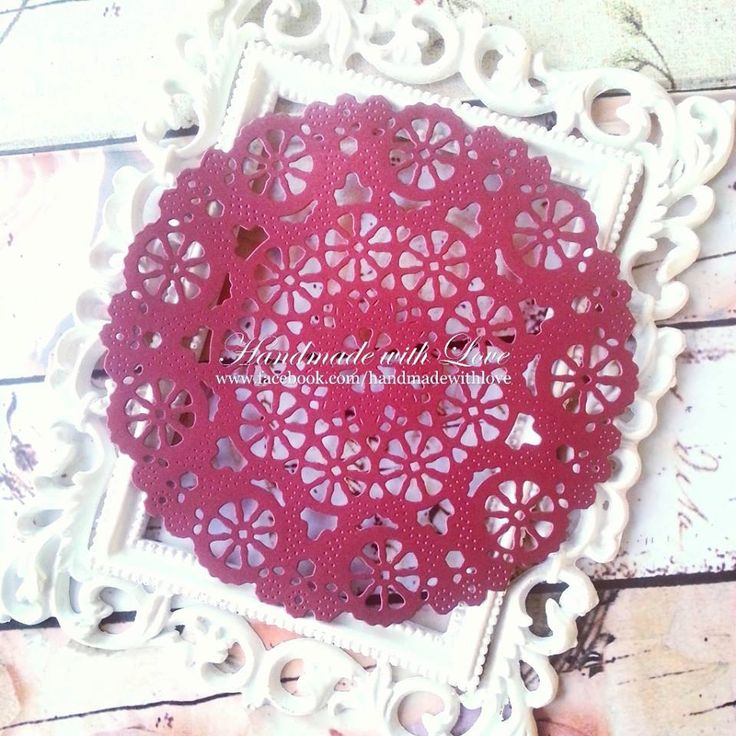 """5 1/8"""" Medallion Doily. 1 pack of 5pcs. Made from double sided 210gsm cardstock. Thicker, more firm and steady. Perfect for any creation! by PaperCraftwithLove on Etsy"""