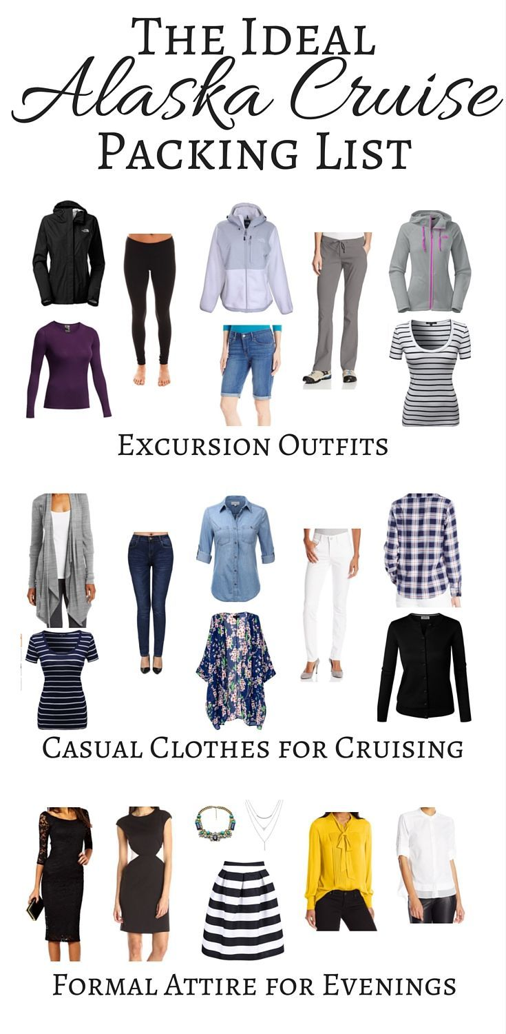 The Ideal Alaska Cruise Packing List: Wondering what to pack for an Alaskan cruise vacation? here's a handy packing checklist to help you.: