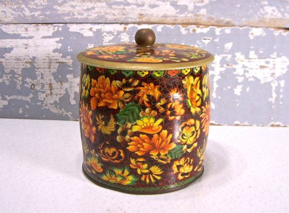 Old Tin thee koffie Containers Vintage MadeIn Engeland VIntage Home keuken Decor opslag Collectible