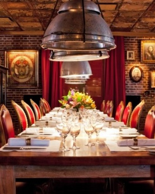 Faena Hotel and Universe  ( Buenos Aires, Argentina )  El Mercado, one of the hotel's restaurants, is styled after a classic Buenos Aires cantina. #Jetsetter