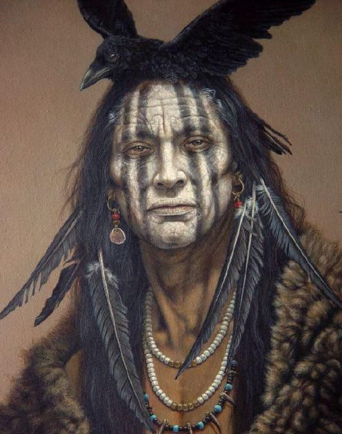 ɛïɜ Famous Chiricahua Apache Geronimo ɛïɜ; what face with red and yellow stripes!