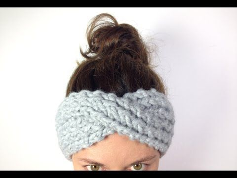 Loom Knit - How to Make Turban Headband / Ear Warmer (DIY Tutorial) - YouTube video ▶ from Tuteate.
