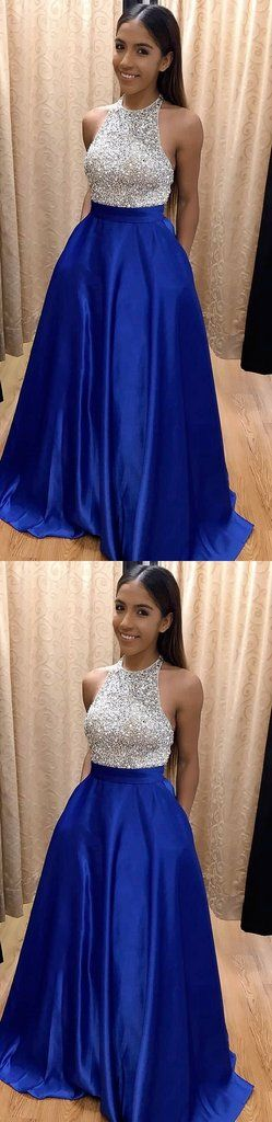 Royal Blue Prom Dress with Pockets, Back To School Dresses, Prom Dresses For Teens, Pageant Dress, Graduation Party Dresses BPD0578