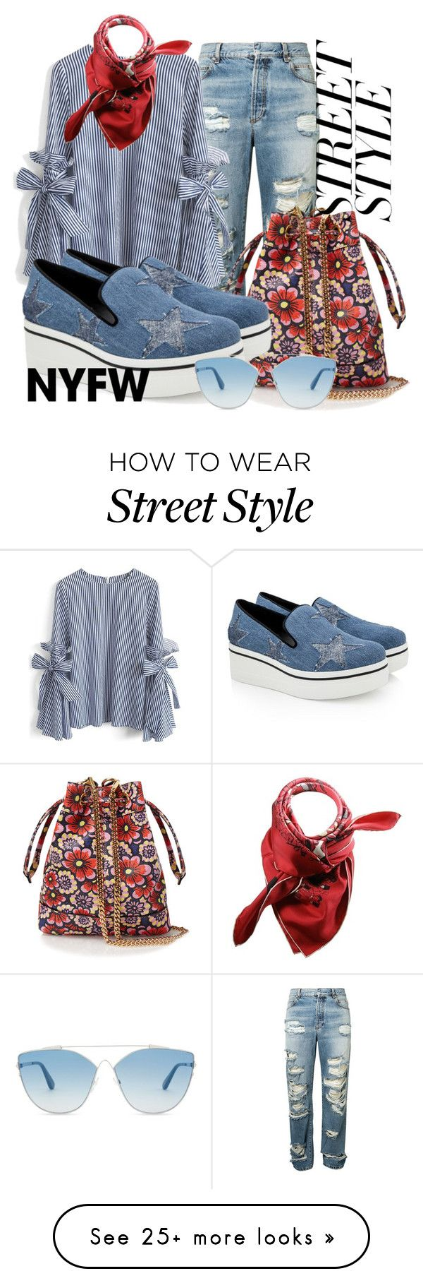 """Street style"" by alexandrapitol on Polyvore featuring Balmain, Chicwish, House of Holland, STELLA McCARTNEY, Christian Dior, Hermès, contestentry and nyfwstreetstyle"