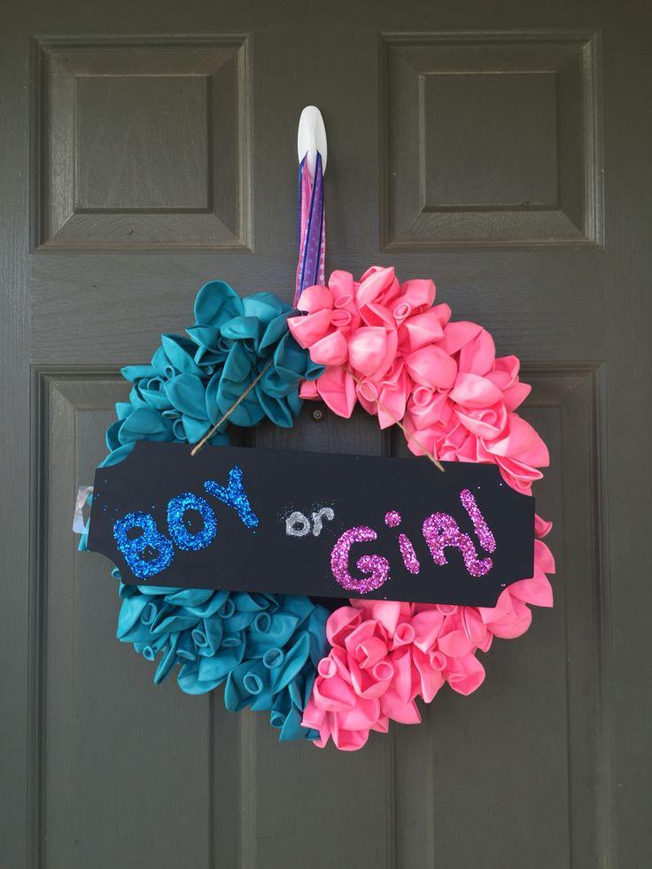 11 best Gender Reveal Wreath images on Pinterest | Gender ...