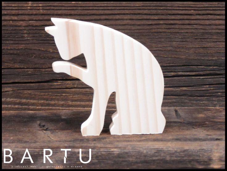 Drewniany Kot-2 10cm www.meblebartu.pl