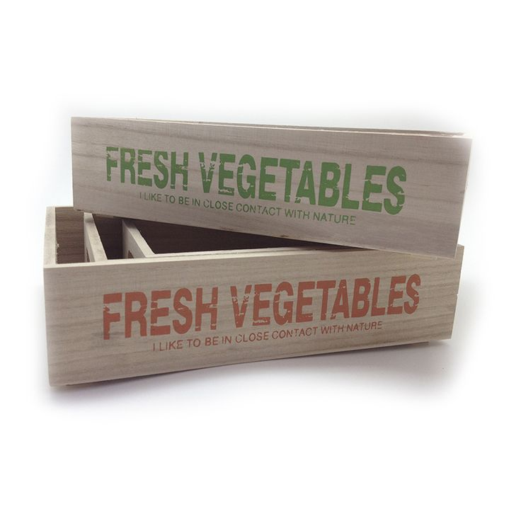Set de Cajas para Jardín Fresh Vegetables http://www.tuttematute.cl/set-de-cajas-para-jardin-fresh-vegetables