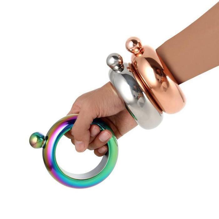 Bangle Bracelet Hip Flask Stainless Steel Bangles Flask