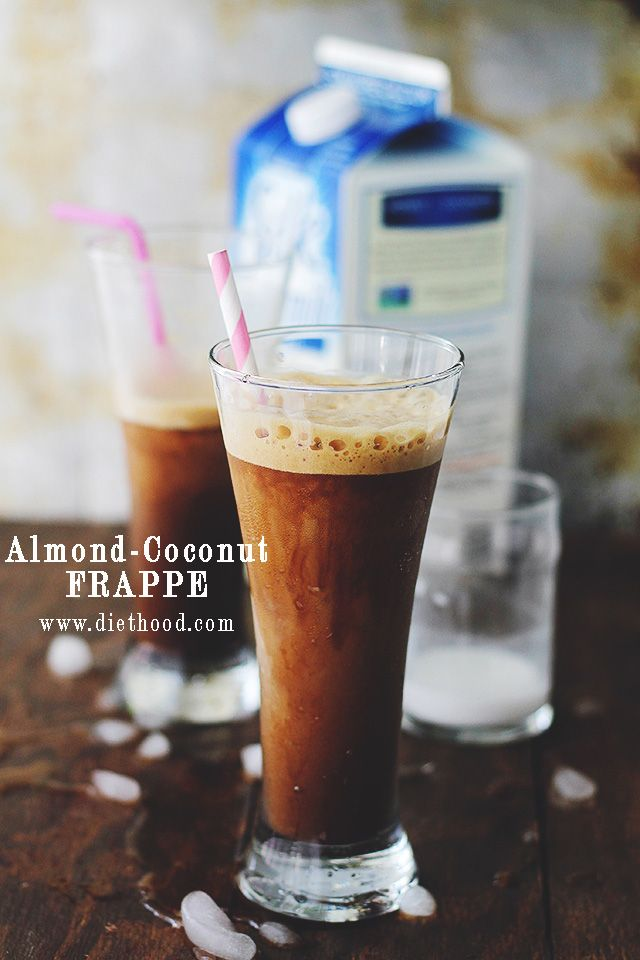 Almond-Coconut Frappé | www.diethood.com | Made with Silk's Almond-Coconut Blend, you can indulge in this very delicious Frappé without the guilt! #recipe #coffee #SilkAlmondBlends