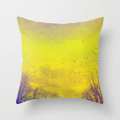 WARM TREES 1 _ keep the warm from the colors of fall Throw Pillow by Katherine Song  - $20.00