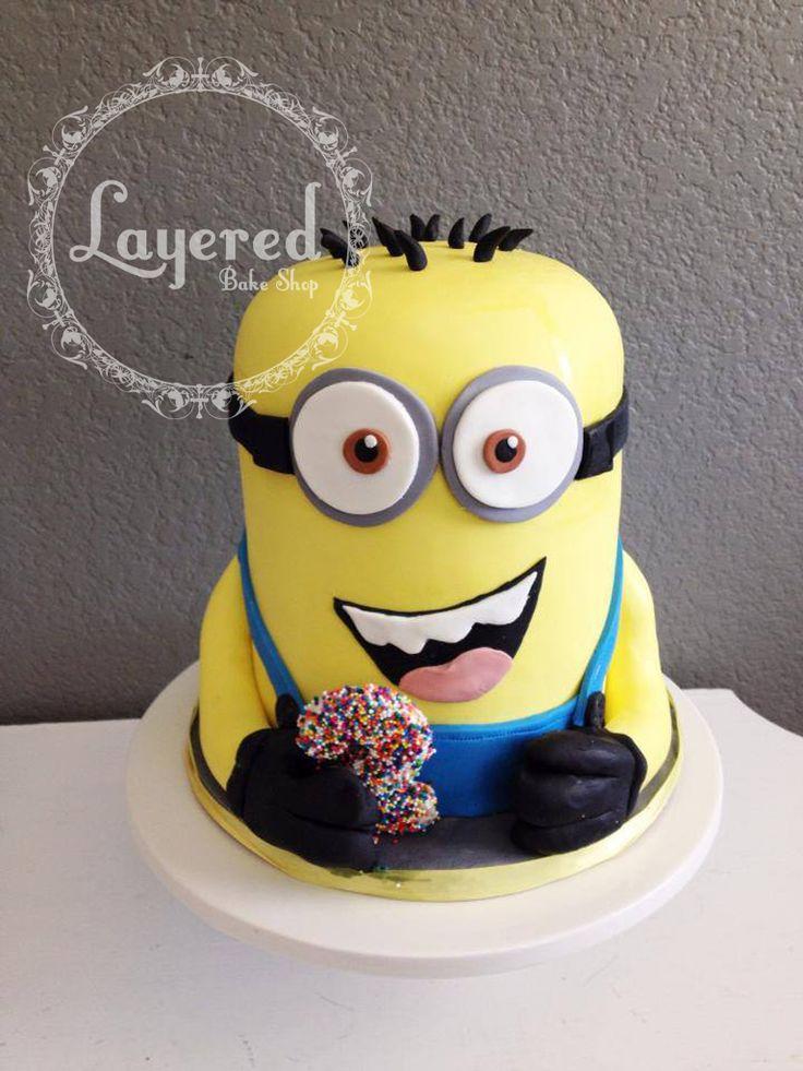 minion cake! #minioncake #despictableme