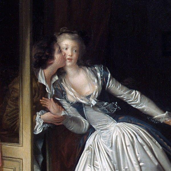 Jean-Honoré Fragonard, Le baiser volé (détail), 1786-1788, huile sur toile, Musée de l'ermitage, Saint Pétersbourg.