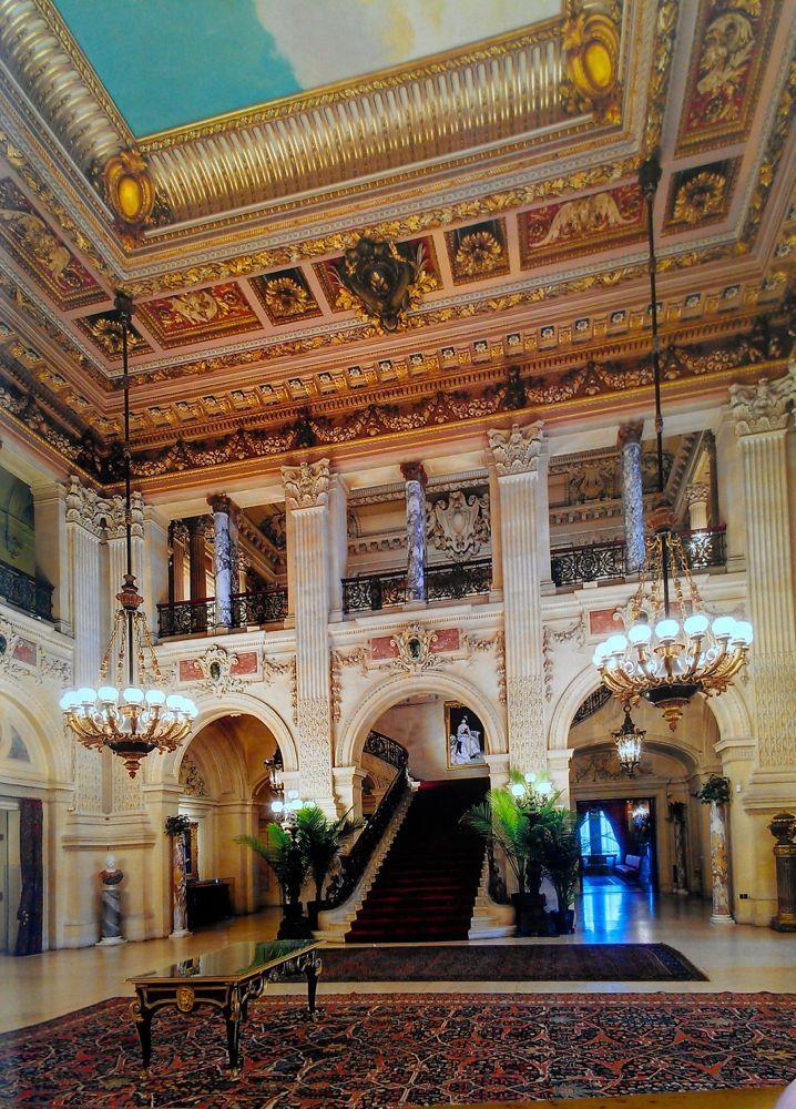 The Central Hall at Breakers Newport for Cornelius Vanderbilt, 1893 - Lady Henrietta Spencer Churchill, American Friends of British Art, Palm Beach - Homa Nasab for MuseumViews - 17