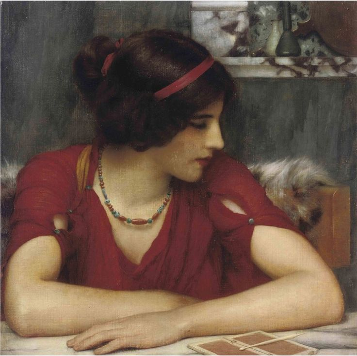 A Classical Maiden   by Circle of John William Godward (1861-1922)