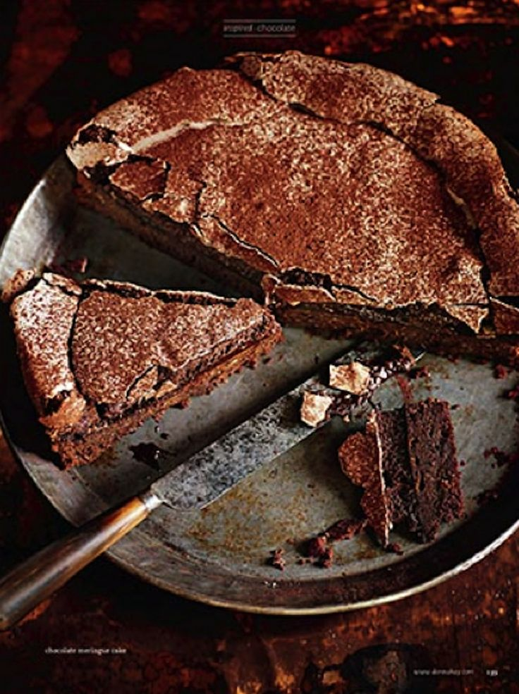 chocolate meringue cake.  anson smart + steve pearce | donna hay.  https://www.donnahay.com.au/recipes/desserts-and-baking/chocolate-meringue-cake