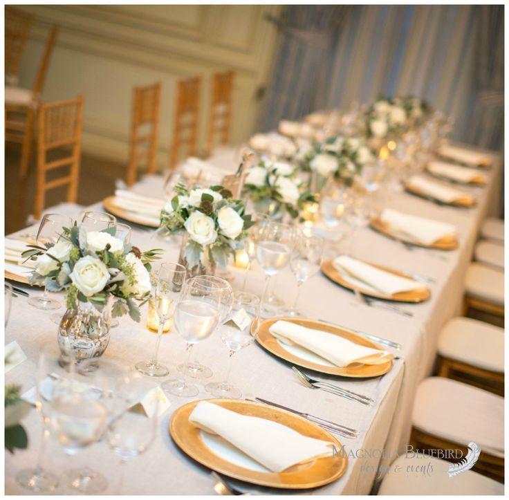 Long Table   Neutrals   Gold   DC Wedding   Magnolia Bluebird   Real Wedding   Meridian House   Washington D.C.