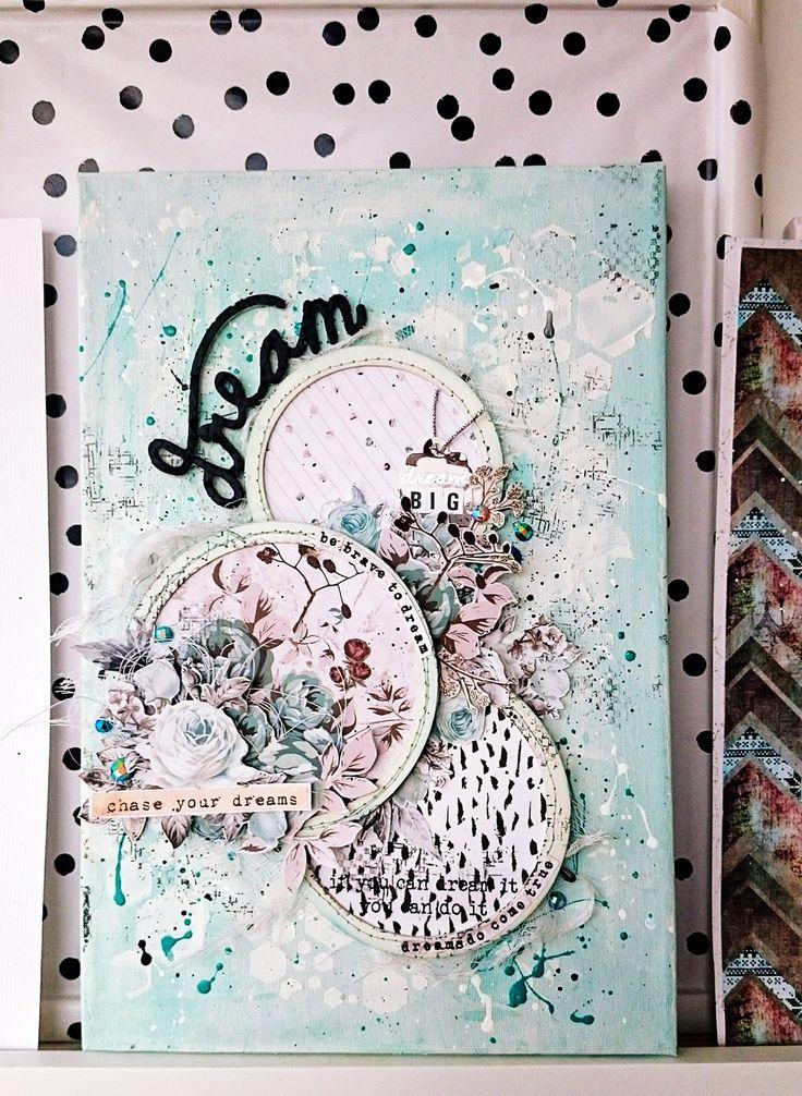 One Little Word 2018 - punkrose.hu #scrap #scrapbook #scraphun #mixedmedia #canvas #onelittleword #dream #primamarketinginc #primamarketing #zellateal #zellatealcollection