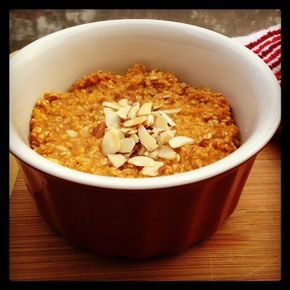 IC friendly Baked Pumpkin Oatmeal. Perfect for cool October mornings!
