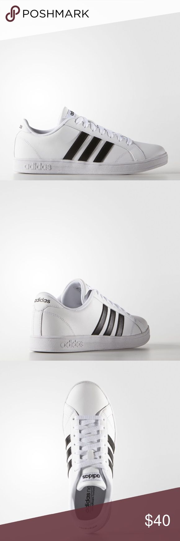 White Adidas NEO Shoes Gently used and still have a lot of life in them! Fits true to size adidas Shoes Sneakers
