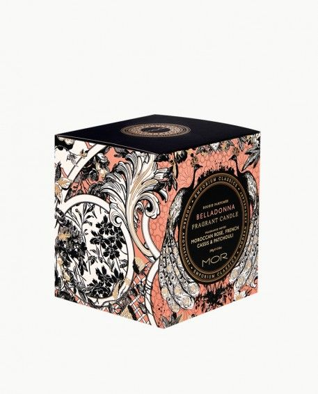 Belladonna Fragrant Candle - A spring symphony of White Narcissus, Moroccan Rose & Pink Tulips enlivened with touch of French Cassis and Patchouli.