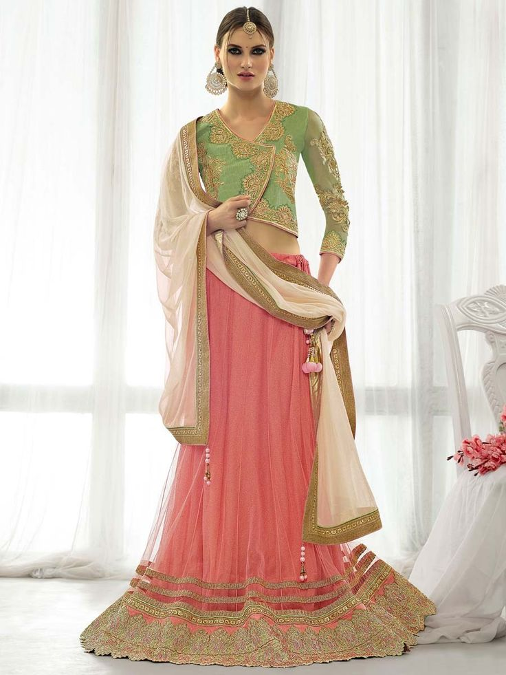Celebrate your moments with this fascinating outfit. Item Code: GAV6807 http://www.bharatplaza.com/new-arrivals/lehengas.html