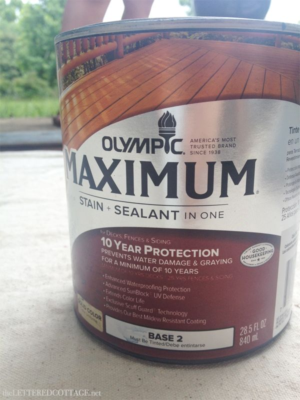 Blogger The Lettered Cottage Uses Olympic 174 Maximum 174 Stain