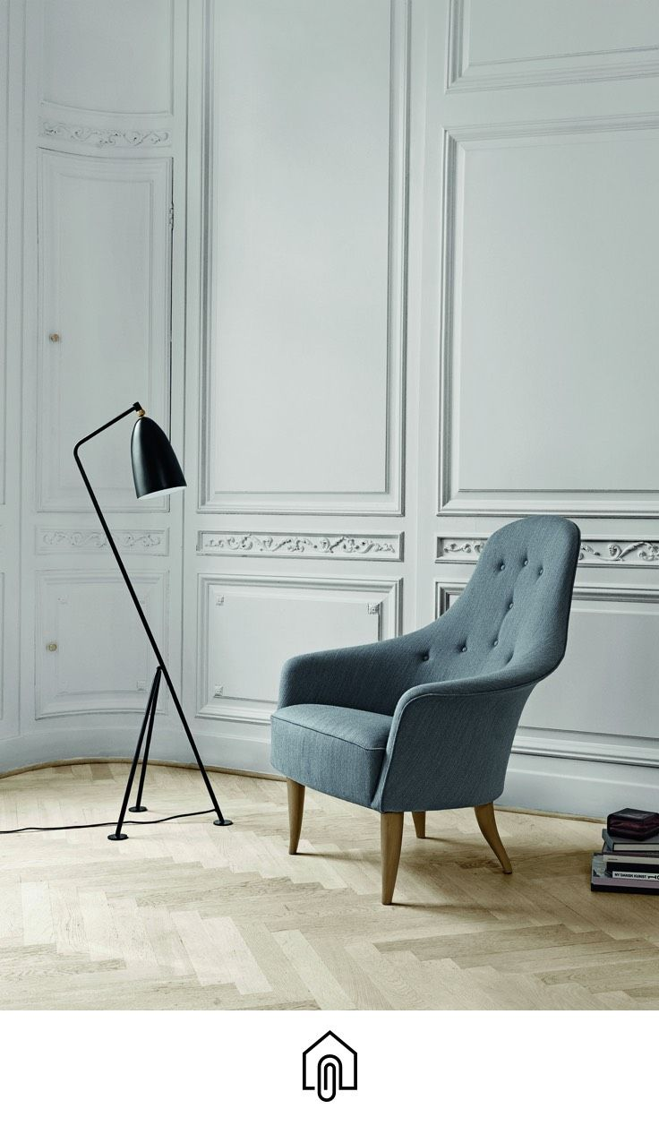 The iconic Gräshoppa lamp by Gubi was first produced in 1947.