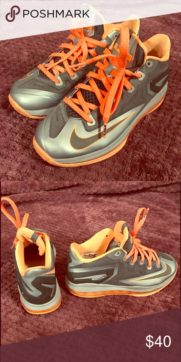 NIKE Lebron 9s low tops Lebron 9s low tops in SIZE 6Y - they were worn twice and look brand new! Nike Shoes Sneakers