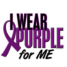 I wear purple for me and my Fibro Warriors.