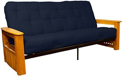 Epic Furnishings Chicago Storage Arm Style 10inch Loft Inner Spring Futon Sofa Sleeper Bed Queensize Natural Arm Finish Twill Navy Blue Upholstery >>> Be sure to check out this awesome product.Note:It is affiliate link to Amazon.