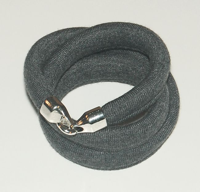 Triple cotton bracelet with a hook.