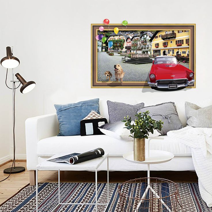 Find More Wall Stickers Information about 1pc Old Photo Style Wall Sticker City Landscape Livingroom Study Background Removable Home Decorative Sticker 1994WS,High Quality sticker oracle,China home casio Suppliers, Cheap stickers fridge from NAAN GUO Store on Aliexpress.com