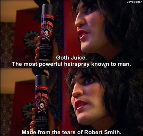 Lush makes a gel called Goth Juice, it is also made from the tears for Robert Smith. ;)