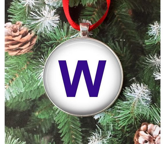 Cubs W Flag Ornament  Chicago Cubs Ornament  by GirlPowerPendants