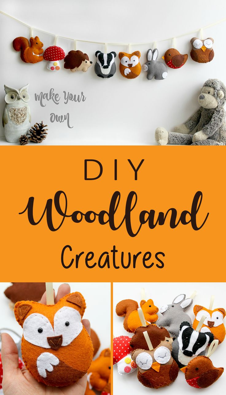 I love doing handwork and this woodland animals se…