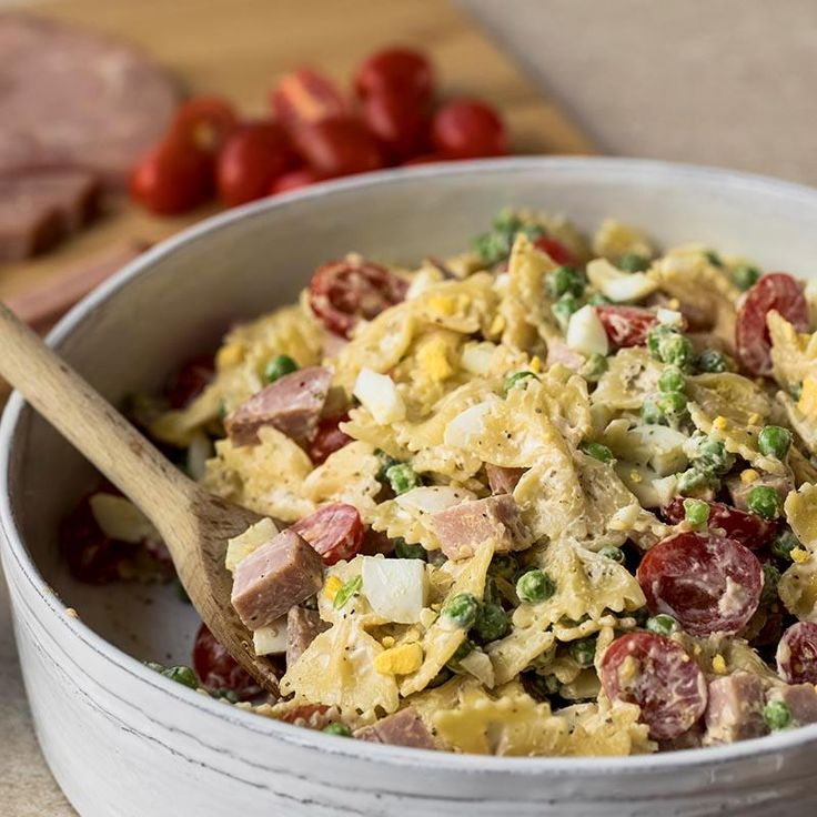 Holiday ham and hard-boiled eggs get new life in this Leftover Ham and Egg Pasta salad recipe. It's got all of your favorite pasta salad ingredients seasoned with McCormick® Italian seasoning, onion powder and garlic powder. Makes a great addition to your brunch table or any potluck party on the calendar!