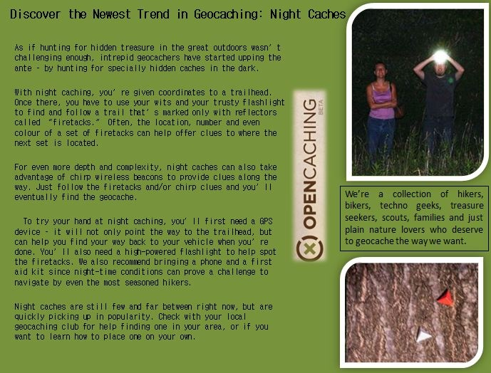 Discover the Newest Trend in Geocaching: Night Caches