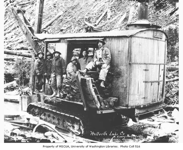 Asian construction crew with erie steam shovel walville for Northwest construction