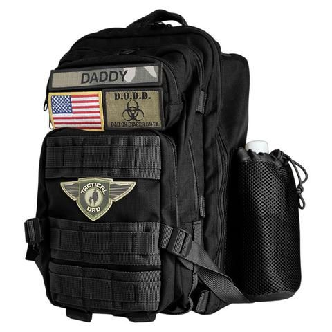 SOLD OUT - AVAILABLE TO SHIP 8/31/2017 The Black D.O.D.D. (Dad On Diaper Duty) Pack provides a manlier alternative to the old pastel colored diaper bag every ma