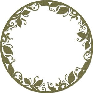 Silhouette Design Store - Search Designs : leaves in a circle
