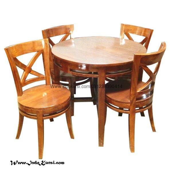 JualSet Kursi Restoran Murah Model Bundar merupakan Produk Mebel Indo Kursi desain Meja Cafe Model Bundar Kursi Bundar Sandaran Silang yang Kuat dan simple