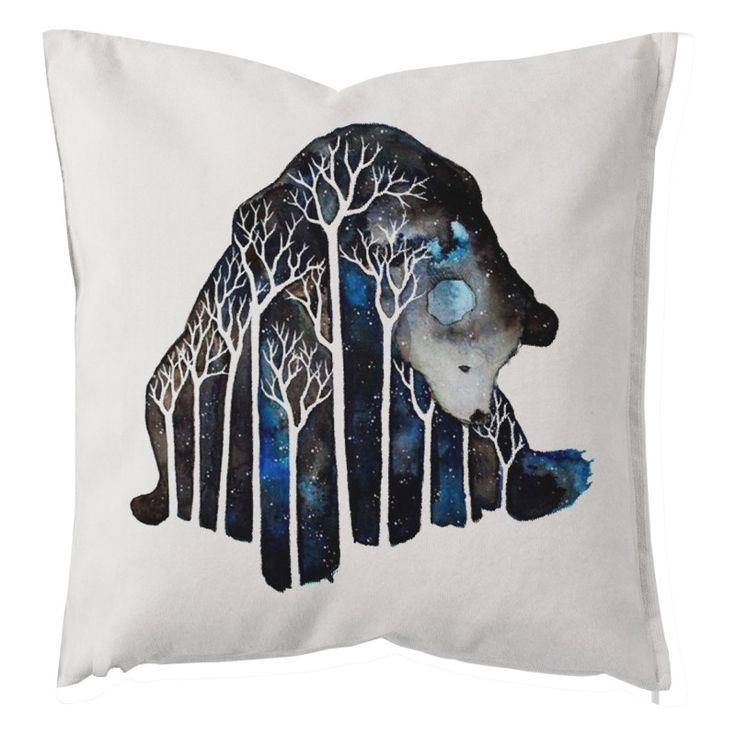 "Decorative pillow cushion design ""Dreaming Bear"""