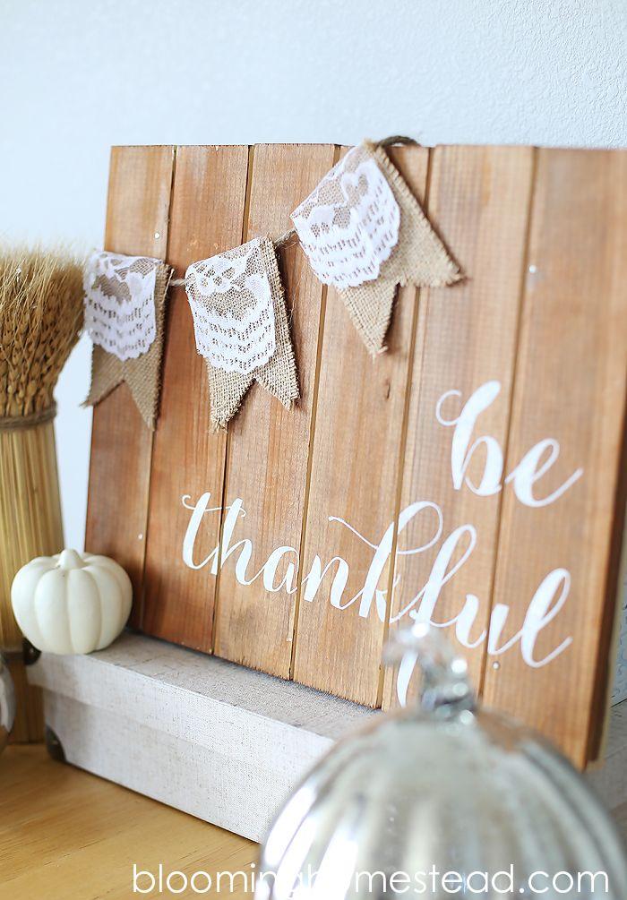 Easy DIY thankful art. Perfect fall home decor.