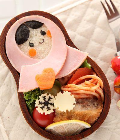 Matryoshka-doll Sandwich Bento (w/ how-to) マトリョーシカ弁当