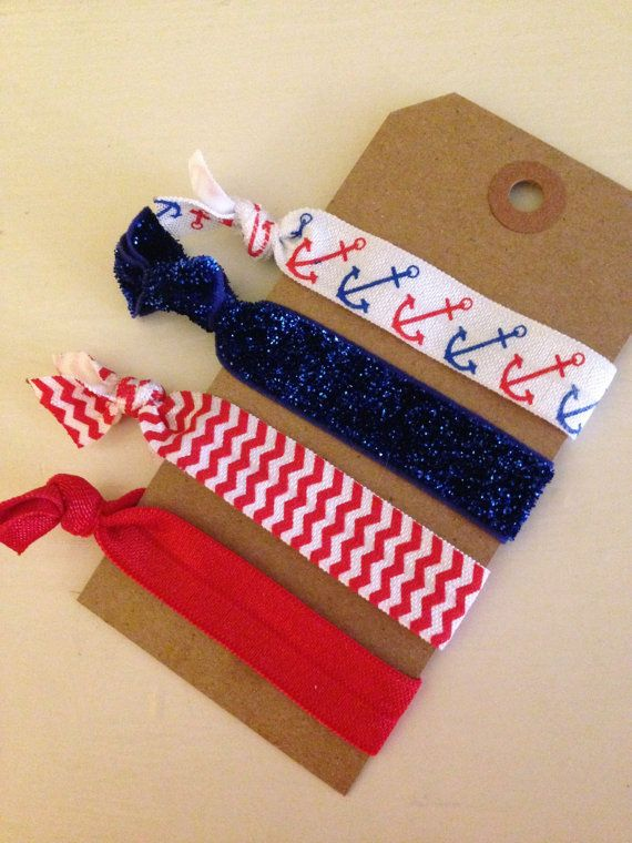 America Creaseless Hair Ties by GracefullyTied on Etsy